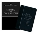 Strong and Courageous/Bible Promises for Life for Men - 2  Pack