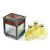 Anointing Oil Set Ornamental Glass Box