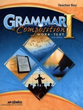 Abeka Grade 7 Grammar & Composition 1 Teacher's Key (6th  Edition)