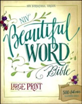 NIV Beautiful Word Bible, Large Print, Hardcover  - Slightly Imperfect