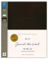NIV Journal the Word Bible, Genuine Leather, Brown  - Slightly Imperfect