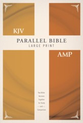 KJV and Amplified Parallel Bible, Large Print, Hardcover
