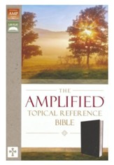 Amplified Topical Reference Bible,  Bonded Leather, Black