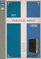 NIV, The Message, Parallel Bible, Leathersoft, Brown