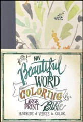 NIV, Beautiful Word Coloring Bible, Large Print, Hardcover, Floral - Slightly Imperfect