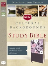 NKJV, Cultural Backgrounds Study Bible, Imitation Leather, Purple
