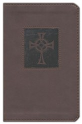 NIV Compact Thinline Bible, imitation leather Brown, Red Letter Edition