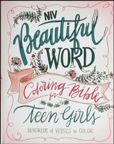 NIV Beautiful Word Coloring Bible for Teen Girls, Hardcover - Slightly Imperfect