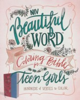 NIV Beautiful Word Coloring Bible for Teen Girls Pink and Blue, Imitation Leather - Slightly Imperfect