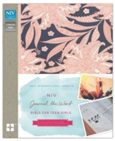 NIV Journal the Word Bible for Teen  Girls Pink Floral, Hardcover