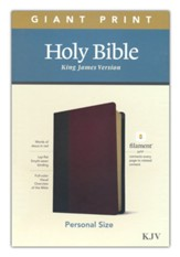KJV Giant-Print Personal-Size Bible,  Filament Enabled Edition--soft leather-look, brown/mahogany