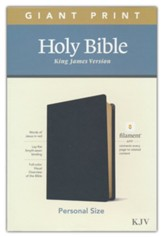 KJV Giant-Print Personal-Size Bible,  Filament Enabled Edition--genuine leather, black