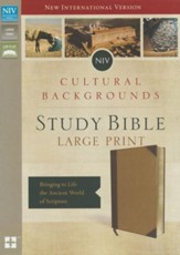 NIV, Cultural Backgrounds Study Bible, Large Print, Imitation Leather, Tan