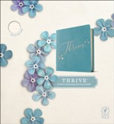 NLT THRIVE Creative Journaling Devotional Bible--soft leather-look teal over hardcover