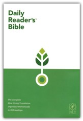NLT Daily Reader's Bible, hardcover