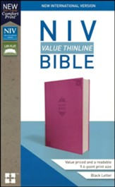 NIV Value Thinline Bible Pink,  Imitation Leather