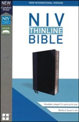NIV Thinline Bible Black and Gray, Imitation Leather