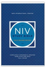 NIV Study Bible, Fully Revised  Edition, Comfort Print,  hardcover (red letter)