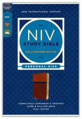 NIV Personal-Size Study Bible, Fully Revised Edition,  Comfort Print--soft leather-look, brown/blue (red letter)