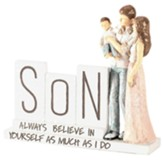 Mom, Dad and Son Figurine