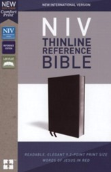 NIV Comfort Print Thinline Reference Bible, Bonded Leather, Black - Slightly Imperfect