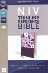 NIV Comfort Print Thinline Reference Bible, Imitation Leather, Purple - Slightly Imperfect