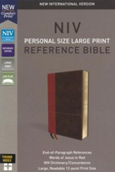 NIV Comfort Print Personal Size Reference Bible, Large Print, Imitation Leather, Brown, Indexed