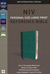 NIV Comfort Print Personal Size Reference Bible, Large Print, Imitation Leather, Blue