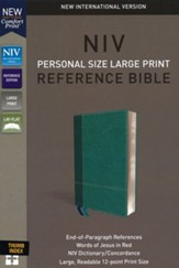 NIV Comfort Print Personal Size Reference Bible, Large Print, Imitation Leather, Blue, Indexed