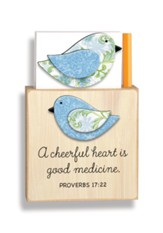 A Cheerful Heart Is Good Medicine Magnetic Note Holder