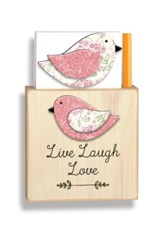 Live Laugh Love Magnetic Note Holder