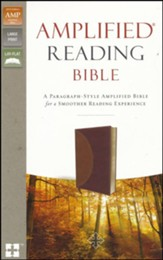 Amplified Reading Bible, Imitation Leather, Brown
