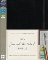 NIV Comfort Print Journal the Word Bible, Hardcover, Black - Imperfectly Imprinted Bibles