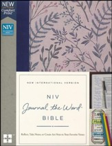 NIV Comfort Print Journal the Word Bible, Cloth over Board, Pink Floral