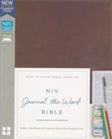 NIV Comfort Print Journal the Word Bible, Imitation Leather, Brown - Imperfectly Imprinted Bibles