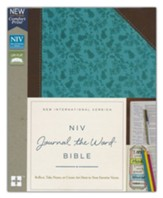 NIV Comfort Print Journal the Word Bible, Imitation Leather, Brown and Blue - Slightly Imperfect