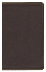 NIV Comfort Print Heritage Bible, Imitation Leather, Brown