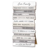 Our Family, Stacking Words Small Plaque