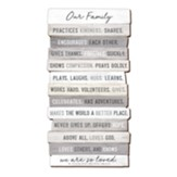 Our Family, Stacking Words Medium Plaque
