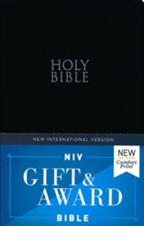 NIV, Gift and Award Bible, Leather-Look, Black, Comfort Print