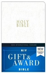 NIV, Gift and Award Bible, Leather-Look, White, Comfort Print
