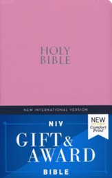 NIV, Gift and Award Bible, Leather-Look, Pink, Comfort Print