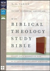NIV Comfort Print Biblical Theology Study Bible, Imitation Leather, Tan and Caramel