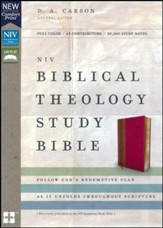 NIV Comfort Print Biblical Theology Study Bible, Imitation Leather, Pink and Brown