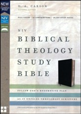 NIV Biblical Theology Study Bible, Bonded Leather, Black, Comfort Print - Slightly Imperfect