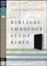 NIV Comfort Print Biblical Theology Study Bible, Bonded Leather, Black, Indexed