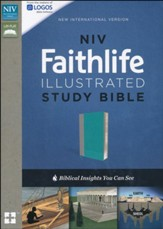 NIV, Faithlife Illustrated Study Bible, Imitation Leather, Gray/Blue