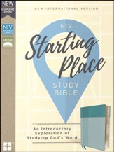 NIV, Starting Place Study Bible, Leathersoft, Blue, Comfort Print