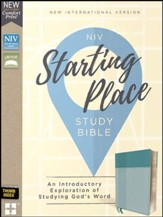 NIV, Starting Place Study Bible, Leathersoft, Blue, Indexed, Comfort Print