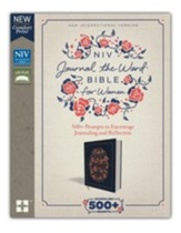 NIV Comfort Print Journal the Word Bible for Women, Cloth over Board, Navy